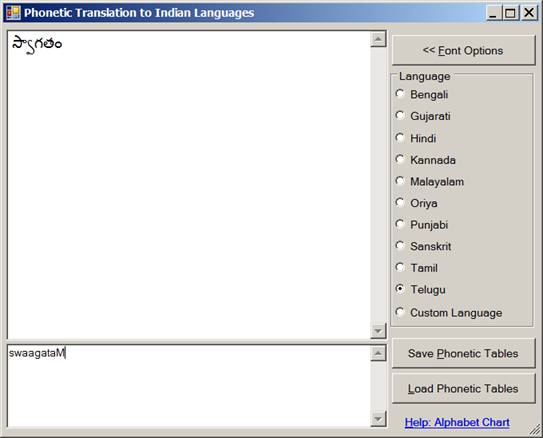 Phonetic Translation Library: API for Typing in Indian Languages
